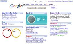 Google Homepage API]