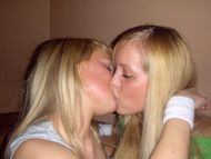 twins kissing and today we have blond twins gotta love them all