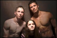 picture with her nude brothers not awkward at all