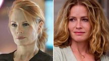 Marg Helgenberger in a scene from CSI  / Elisabeth Shue appears in a