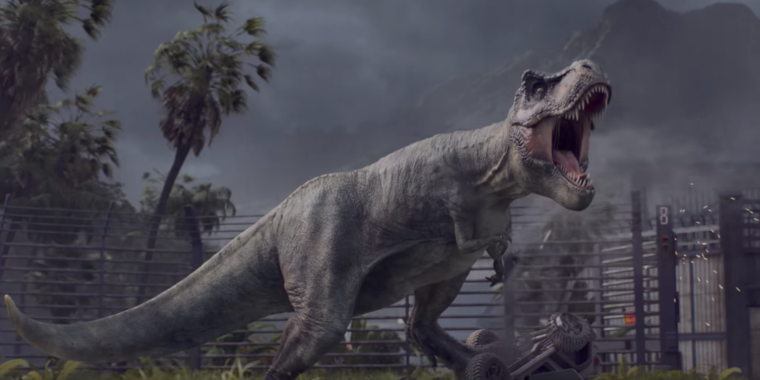 Jurassic World Evolution is a theme park sim from Planet Coaster dev Frontier