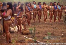 Waur� Indigenous People, Women dancing  Amazon rain forest, Brazil