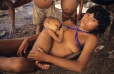 YANOMAMI TRADITIONAL LIFESTYLES , Amazon, near Boavista, northern