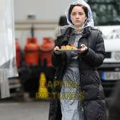 Sophie Rundle.during A Break From Filming 'The Bletchley Circle' A New