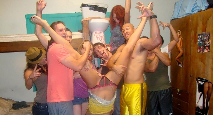Crazy College Gfs Photo Shoot Dorm Room Party