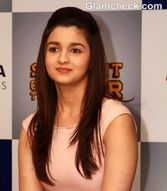 Alia Bhatt Pretty in Peplum at �Student of the Year� Promo Event