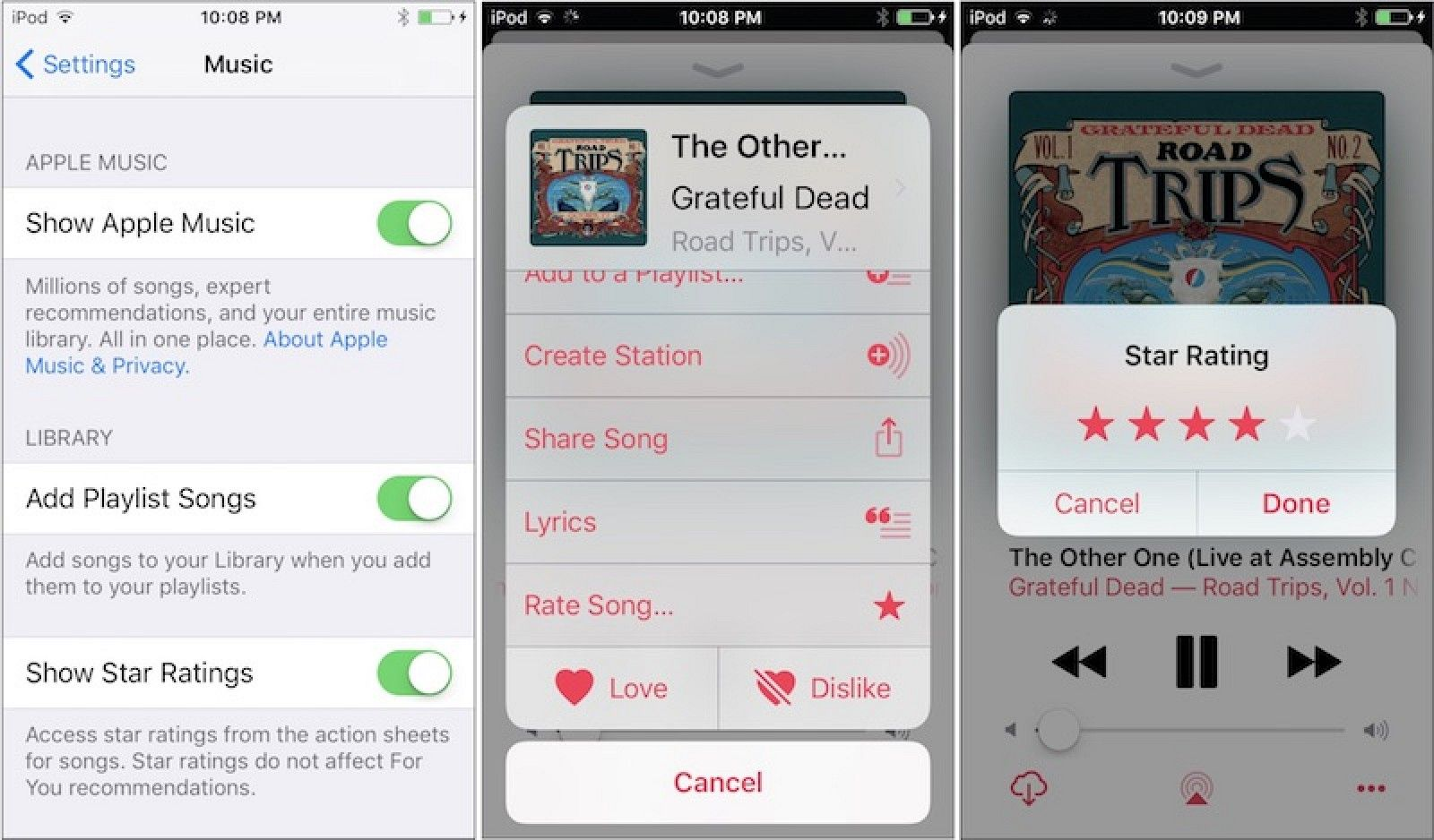 Star Ratings Make a Return to Apple Music on iOS 10.2 Beta