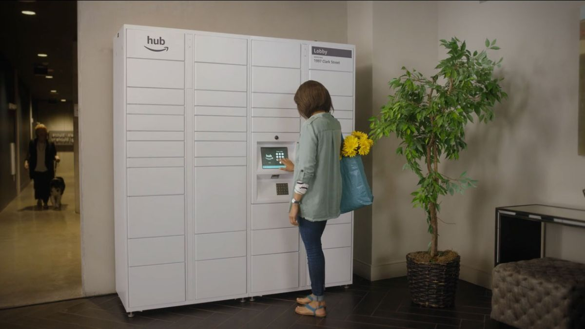 Amazon has launched 'Hub' - storage lockers for deliveries in your home