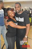 Kandi Burruss strikes a pose with her fiance Todd Tucker…