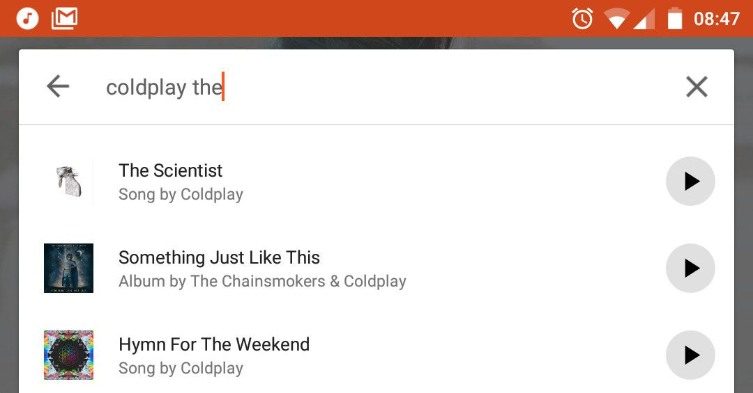 Google Play Music on Android is now playable from search results