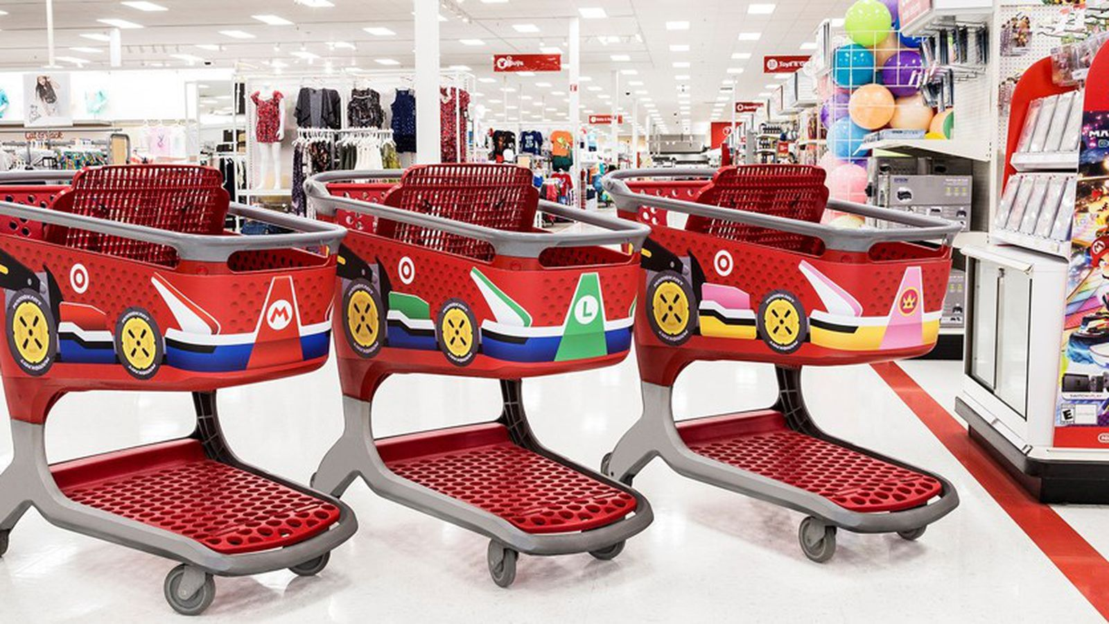 Target is playing a dangerous game by turning shopping carts into Mario Karts
