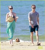 Anne Hathaway Dons Bikini Top for Hawaii Beach Walk!   Adam Shulman