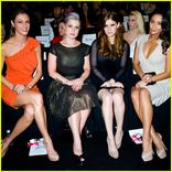 Kelly Osbourne and Kate Mara sit front row at the Badgley Mischka Fall