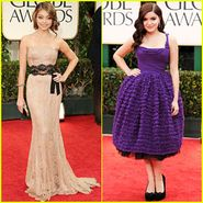 Modern Family stars Sarah Hyland and Ariel Winter glam up for the 2012