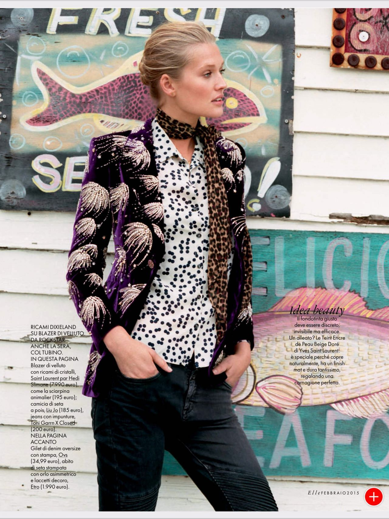 Toni Garrn U2013 Elle Magazine February 2015 Issue