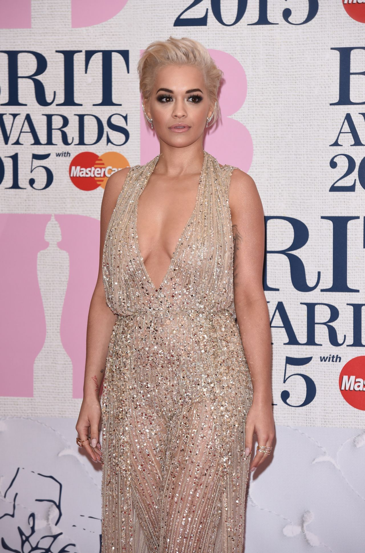 Rita Ora U2013 2015 Brit Awards In London