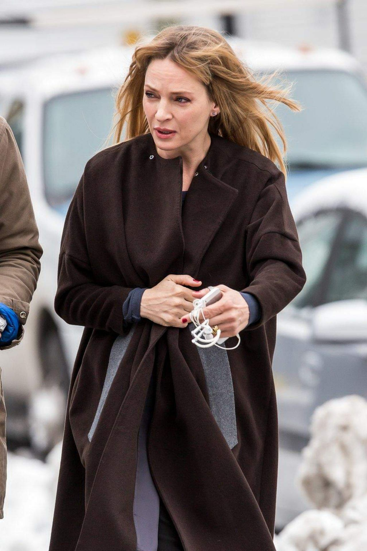 Uma Thurman At The Slap Set Photos In New York