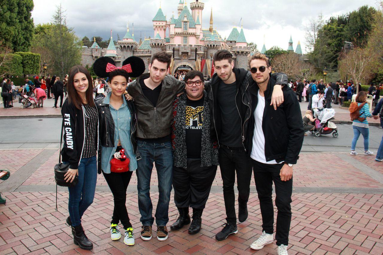 Victoria Justice At Disneyland In Anaheim