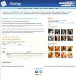filefap com Homepage Screenshot