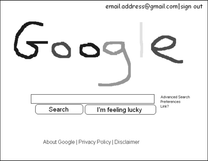 Google homepage: By Jordan Hamer