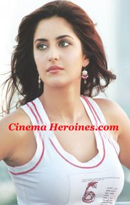 Beautiful Cute Heroine Katrina Kaif hot spicy boobs in White skirt