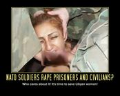 NATO soldiers rape prisoners and civilians? Who cares about it! It's