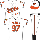 Baltimore Orioles Home Uniform (2013) - Orioles In Orange With A Black