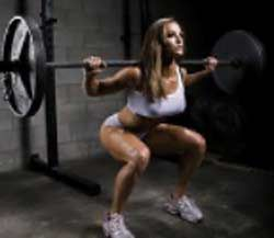 Woman Squatting