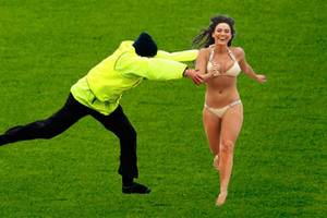 Crazy Fans On Field: Funny Football Moments