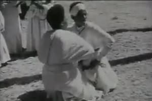 1934, Historical Ethiopian dance, 'Eskesta' video by Walter Mittelholzer
