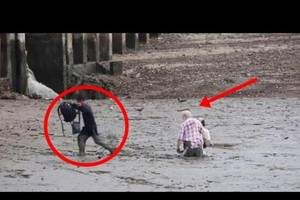 HUGE! Tourist Couple Stuck in Mud! Watch What Happen To Them [Unbelievable]