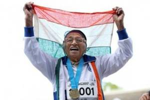 101-year-old woman wins gold at 100 metre race