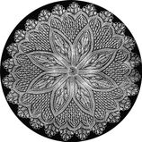 Meyers Sonderheft 13634  Round Doily Photo  Framed