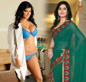 Sunny Leone and Zarine Khan both look like same face cute and body