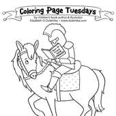 Dulemba: Coloring Page Tuesday - Knight!