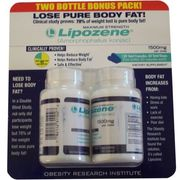 Lipozene Maximum Strength Fat Loss Supplement, 60 Capsules, 1500mg