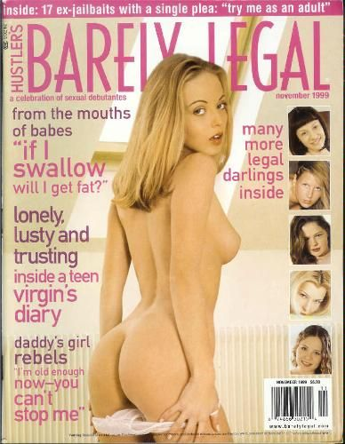 Hustler Barely Legal November 1999