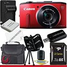 Amazon com: Canon PowerShot SX280 HS Digital Camera (Red) 16GB Package