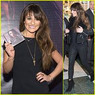 Lea Michele Wears Key Around Her Neck at 'Louder' Album Signing!
