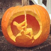The Miley Cyrus Wrecking Ball Pumpkin