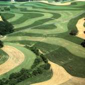 Contour Plowing Of Fields In Pennsylvania, 1982.