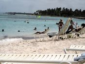 Jen wind surfing // jen topless punta vacation family clubmed cana