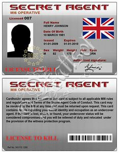 Secret Agent Card (Fake ID) | Flickr - Photo Sharing!