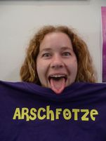 Moi and my new Arschfotze Tshirt thanks ALex :0) | Flickr  Photo