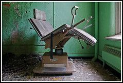 examination chair (jon bohy) Tags: abandoned hospital obgyn