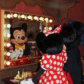 Meeting Mickey And Minnie Mouse In Their New Home