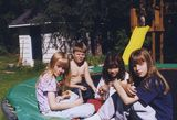 trampoline friends i m the half nude little boy in the back d the