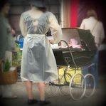The Baby Carriage (Renee RendlerKaplan) Tags: ladies baby girl rain