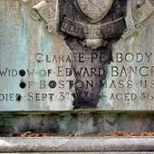 Detail Of The Tomb Of Clara E. Peabody (1826-1882) - Widow Of Edward