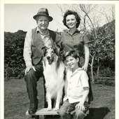 Tommy Rettig Jan Clayton George Cleveland Lassie 1955